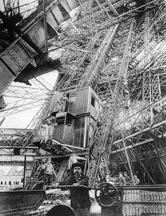 The Eiffel Tower (French: La Tour Eiffel, nickname La dame de fer, the iron lady) is a puddle iron lattice tower located on the Champ de Mars in Paris. Tour Eiffel, Paris Eiffel Tower, Paris 1900, Old Paris, Deco Paris, Gustave Eiffel, Expositions, World's Fair, Under Construction
