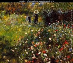 Summer Landscape Aka Woman With A Parasol In A Garden. Pierre Auguste Renoir    pierre-auguste-renoir.org