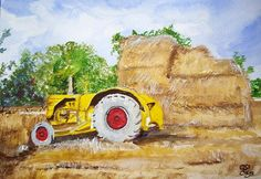Harvest watercolour, from a photo by my friend, Steve West