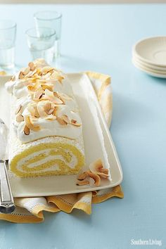 This is how we roll.   Coconut-Almond Roulade