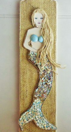 Midori's Mermaid 3 a mixed media artwork by MidorisMyMuse on Etsy