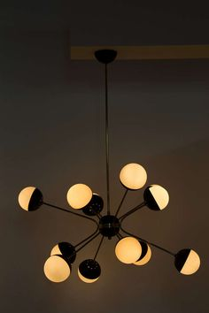 Multi arm chandelier by Stilnovo 1950