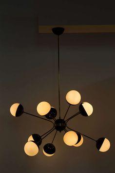 Multi arm chandelier by Stilnovo 1950