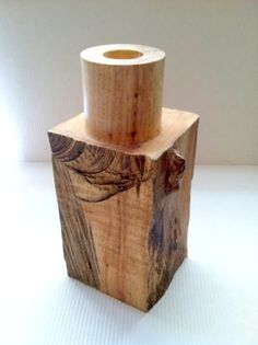 Wood Turned Natural Sides with burls Pecan Vase by FiberBungalow, $140.00