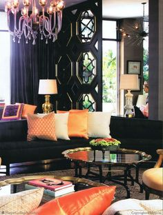 layers of texture and color...Kelly Wearstler's design.