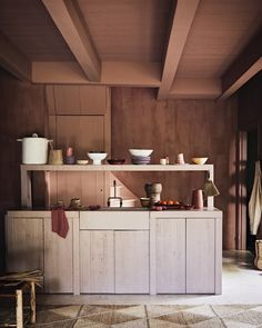 Warm Earthy Hues and Cozy Corners For A Moroccan-Style Home - The Nordroom Kitchen Design, Kitchen Decor, Cozy Corner, Moroccan Style, Pale Pink, Earthy, Interior Inspiration, Kitchen Cabinets, Warm