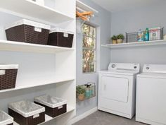 Before renovations, the laundry room had been located in the garage of the home. Chip and Joanna utilized the add-on that was in the back of the home to create this value adding laundry area and powder room.