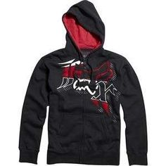Fox Racing Sutter Zip Up Fleece Hoodie   2X Large/Black