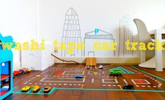 DIY Washi Tape Toy Car Track For Your Son To Play On | Kidsomania