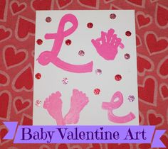 I wanted to commemorate Olive's 1st Valentine's Day by doing an art project. I figure anything involving tiny baby hand prints and foot ...
