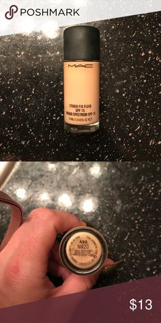 Mac foundation Mac foundation,  only used a few times. Color was to dark for me. MAC Cosmetics Makeup Foundation