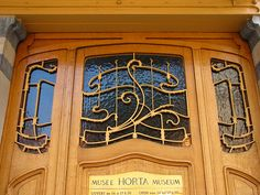 Art Nouveau windows from Victor Horta Museum, Brussels.