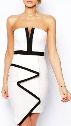 Enchanting Open Back White Sheath Dress with Zipper