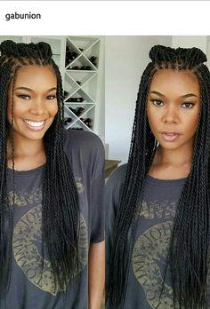 Gabrielle Union in braids
