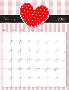 Fevereiro 2014 Calendário para impressão