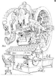 Hex - Hogfather by Stephen Player. Sir Terry Pratchett Discworld.