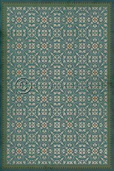 pattern 31 the blue mosque - vintage vinyl floor cloths