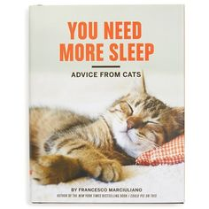 'You Need More Sleep: Advice From Cats' Book (54 RON) ❤ liked on Polyvore featuring home, home decor, green, green home decor and cat home decor