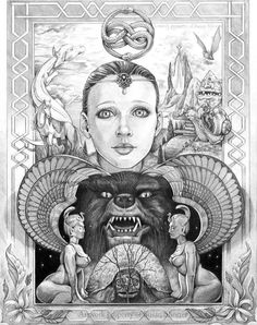 My favorite movie of all TIME! I have wanted to do a fan art piece for many years. This movie was one of my biggest childhood inspirations that helped p. Ode to the Neverending Story Fantasy Kunst, Fantasy Art, Coloring Books, Coloring Pages, Story Tattoo, Auryn, Story Drawing, The Neverending Story, 1 Tattoo