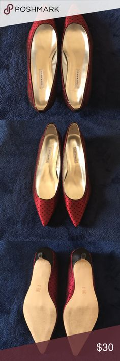 Caparros Red/Black Kitten Heels Worn once. Great condition. Shoes Heels