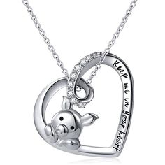 925 Sterling Silver Cute Pig Pendant Necklace Earrings Ring for Women Girls Jewelry Birthday Gift - Keep me in your heart Pig Necklace Pig Necklace, Ring Earrings, Silver Earrings, Pendant Necklace, Silver Ring, Gold Pendant, Silver Bracelets, Garnet Necklace, Peridot Jewelry