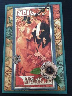 Steampunk Card - Flirt; Romance SOLD