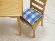Dollhouse Miniature Kitchen Chair Cushions Pads by dalesdreams, $11.98