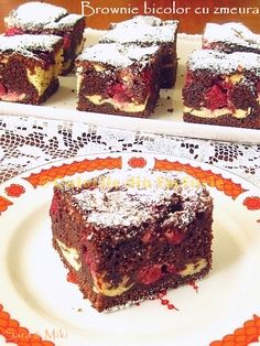 My Recipes, Sweet Recipes, Cookie Recipes, Dessert Recipes, Romanian Desserts, Romanian Food, Best Brownies, Gluten Free Desserts, Cake Cookies