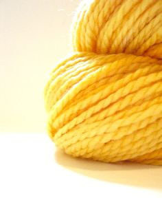 Aran Merino Superwash- Buttercup yarn, such a lovely color and texture!