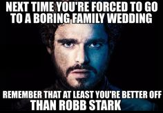 """A post-red wedding meme with the lyrics of Taylor Swift's """"We Are Never Ever Getting Back Together"""" over the pictures of the Stark family. Description from pinterest.com. I searched for this on bing.com/images"""