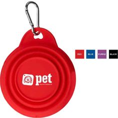 "Keep Fido hydrated no matter where your itinerary takes you with this Pet Collapsi-Bowl (TM). This handy promotional dog bowl is made using soft, flexible silicone and has an 8 oz. capacity. A carabiner comes included for easy attaching to backpacks, belt loops or leashes. It measures 2""H (opened) x 5 1/4""D or 3/4""H (collapsed) x 5 1/4""D. Choose from several colors to complement an imprint of your brand. From pet stores to trainers and outfitters, this bowl is a great way..."