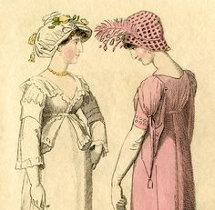 Here's a charming Regency Fashion Plate! Shown above is a lovely Jane Austen-esque print that you can download for Free!