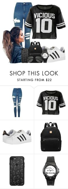 """Untitled #251"" by maddie-much ❤ liked on Polyvore featuring Topshop, adidas, Casetify and Yves Saint Laurent"