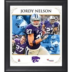 Jordy Nelson Kansas State Wildcats Framed 15'' x 17'' Core Composite Photograph