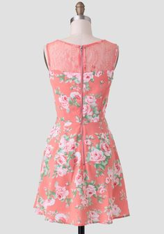 Camellia Blossoms Lace Detail Dress