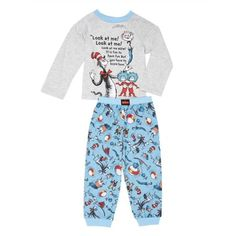 65528a6f99ef Cat in the Hat Long Sleeve Top   Jogger Pants Pajamas