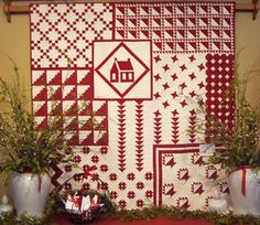 Barbara Brackman's MATERIAL CULTURE: Red and White Incredible; more on her blog.