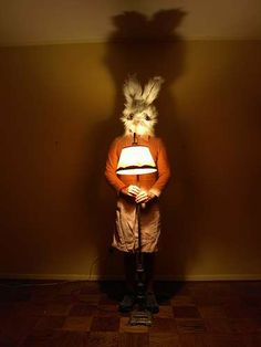 Bunny-Head Fashion: Surreal Self-Portrait Photography With Giant Rabbit Heads