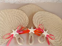 Hey, I found this really awesome Etsy listing at https://www.etsy.com/listing/205735348/starfish-raffia-fans-wedding-favors-10