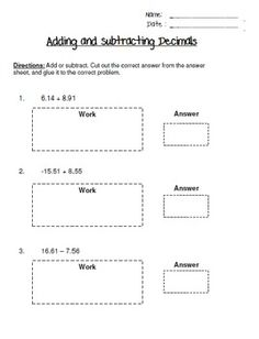 math worksheet : use a menu to practice adding and subtracting decimals adapting  : Adding And Subtracting Decimals Worksheets 4th Grade