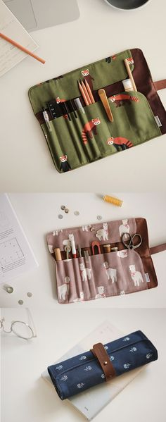 The Dailylike Roll Pouch is a unique roll up pouch that can both store your items and keep them organized at all times. It's an ideal pouch to store your writing utensils, makeup tools, crafting tools, or any other items in similar shape! Insert them in the pockets, and roll it up to keep them together!