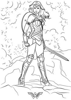 Free & Easy To Print Wonder Woman Coloring Pages - Tulamama Superhero Coloring Pages, Coloring Pages For Kids, All Superheroes, Free Printable Coloring Pages, Cover Pics, Diy Birthday, 30, Little Ones, Wonder Woman