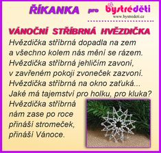 Říkanka pro BD Aa School, School Clubs, Teaching Posts, Christmas Time, Advent, Herbs, Activities, Plants, Internet