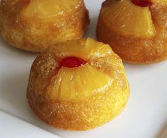 Cupcakes Volteados de Piña