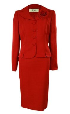 Women's Bright Texture Business Suit Blazer Skirt Set