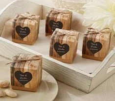 Rustic Wedding Favor Boxes - Rustic Themed Wedding Favors by Kate Aspen