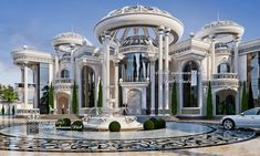Classical Architecture, Ancient Architecture, Futurism Architecture, Classic House Design, Classic Style, Mansion Designs, House Outside Design, Bedroom Bed Design, Cute Room Decor