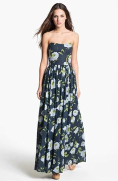 French Connection 'Spring Bloom' Cotton Maxi Dress available at #Nordstrom