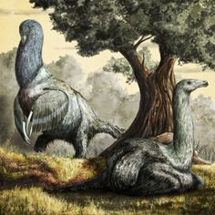 Mark Witton.com Blog: More new-old art: Therizinosaurus, superpigeon, and Polacanthus, walking coffee table