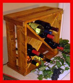 Wood Wine Rack Storage Cube Crate by RchristopherDesigns on Etsy, $54.99